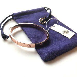 TORY BURCH Rose Gold Stud Miller Hinge Bracelet